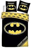 Batman Bettwäsche-Set 100% Baumwolle, Bettbezug 135 x 200 cm Kissenbezug 80 x 80 cm