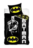Carbotex Batman Bettwäsche Kinderbettwäsche 135x200 + 80x80 cm Doppelseitige 100% Baumwoll