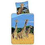ESPiCO Bettwäsche Trendy Bedding Giraffen Bunt Safari Afrika Landschaft Wildtier Tiermotiv...