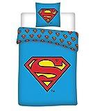 BrandMac DC Superman Bettwäsche, 200 cm x 135 cm, 80 cm x 80 cm, Deutsche Standardgröße, 100%...