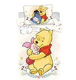 Disney Winnie Pooh Bettwäsche Set 2 TLG. Gr.: 100x135 cm, 40x60 cm 100% Baumwoll