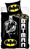 Batman Bettwäsche Set 135x200cm + 80x80cm, Baumwolle Kind
