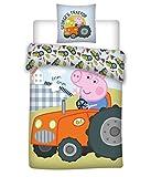 036 Peppa Pig Bettwäsche, Kinderbettwäsche/Babybettwäsche, Peppa Pig Georges Tractor,...