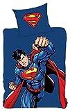 Superman Bettwäsche, 200 cm x 135 cm, 80 cm x 80 cm, Deutsche Standardgröße, 100% Baumwoll