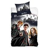MTOnlinehandel Harry Potter Bettwäsche Bettbezug 135x200 80x80 Baumwolle · Kinderbettwäsche für...