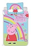 Jerry Fabrics Peppa Pig PEP016 Babybettwäsche Kinderbettwäsche 100x135 cm