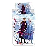 Disneys Frozen 2 White Anna und ELSA mit Olaf Bettwäsche Set 140x200 70x90
