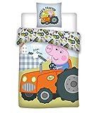 AYMAX S.P.R.L. Peppa Pig Kinder-Bettwäsche-Set George - Peppa Wutz Bettwäsche Kinder 135 x 200...
