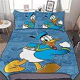 Kinder Bettwäsche Set 135x200,Weicher Und Bequemer Mikrofaser Donald Duck Bettwäsche,Kinder...