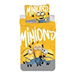 Jerry Fabrics Minions Bettwäsche Bob Kevin Stuart Yellow Kopfkissen Bettdecke für 135x200 S