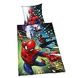 Bettwäsche Spiderman, Kopfkissenbezug 80x80cm, Bettbezug 135x200cm, Renforce, mit Marken-RV