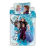 Bettwäsche für Babys, 100% Baumwolle, Elsa & Anna, Bettbezug 100 x 135 cm + Kissenbezu