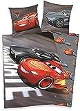 Klaus Herding GmbH Disneys Cars 3 Bettwäsche-Set, Baumwolle, Grau, 200 x 135 cm