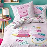 Peppa Wutz CTI Wendebettwäsche Renforce Peppa Pig · Kinder-Bettwäsche für Mädchen · Rosa,...