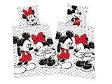 Klaus Herding GmbH Mickey + Minnie Mouse Partner Bettwäsche Doppelpack 80x80cm 135x200cm, 100%...