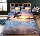 Strand und Meer 3D Print Betten Set Kinder Sea Beach Sonnenuntergang Bettwäsche Set Microfaser...