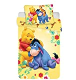 JERRY FABRICS Disney Winnie Puuh Baby-Bettwäsche-Set, Baumwolle, Mehrfarbig, Größe 40 x 60 + 100...
