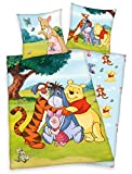 Klaus Herding GmbH Disney`s Winnie The Pooh Bettwäsche 80x80 + 135x200 cm 100% Baumwolle (bunt...