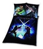 Star Wars Bettwäsche glatt 8 Schwertkampf Rey Finn Tico Yoda 135 x 200 NEU Wow -...