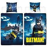 Lego Kinder Bettwäsche Batman Gotham 135 x 200 + 80 x 80 cm 100% Baumwolle Universe Movie Robin...