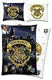 Harry Potter Wende-Bettwäsche Hogwarts 135 x 200 + 80 x 80 cm 100% Baumwolle...