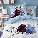 CTI Frozen 2 · Bettwäsche-Set Disney`s die Eiskönigin 135x200cm + 80x80cm · Anna, ELSA & Olaf...