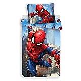 Marvel Spiderman Bettwäsche, 2-teilig, Bettbezug (140 x 200 cm), Kissenbezug (70 x 90 cm)