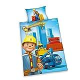 Herding Bob der Baumeister Kinder Bettwäsche 40 x 60 cm 100 x 135 cm 100% Baumwoll