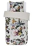 ESSENZA Bettwäsche Fleur Blumen Baumwollsatin Ecru, 135x200 + 1x 80x80 cm