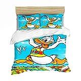 BMKJ Bettwäsche,Donald Duck Bettwäsche-Set, Cartoons Motiv Mikrofaser Weich Bettbezug-Set Mit...