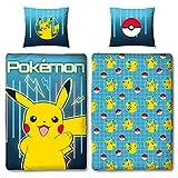 Familando Pokemon Bettwäsche-Set 135x200 cm + Kissen 80x80 cm · Pokémon Pikachu ·...