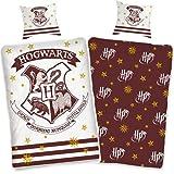 Bettwäsche Harry Potter 135x200 cm 80x80 Kissenbezug Bettwäsche-Set zum Wenden Hogwarts Baumwolle...