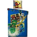 Lego NINJAGO Kinderbettwäsche ' TEAM Ninja ' Kinder Jungen Bettwäsche Set 2 tlg. 80x80 + 135x200...