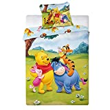 2 TLG Kinderbettwäsche 100x135 40x60 Disney 1017 Winnie The Poo