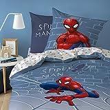 Spiderman Marvel Incredible Bettwäsche, Bettbezug, Kopfkissenbezug, Garnitur, 100% Baumwolle...