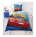 Character World Disney Pixar Cars 3 Race Ready Auto Motiv Kinder Bettwäsche Wende Motiv - 2 TLG....