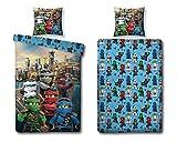 Character World Ninjago Motiv Bettwäsche 135x200 cm + Kissen 80x80 cm Lego Kinder-Bettwäsche...