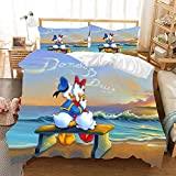 AMCYT Donald Duck Bettwäsche-Set, 100% Mikrofaser, pflegeleicht (Donald Duck4,135x200cm/80x80cm)