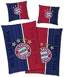 FC Bayern München Wende-Bettwäsche - Champions Leuchtet im Dunkeln 135 x 200 + 80 x 80 cm 100%...