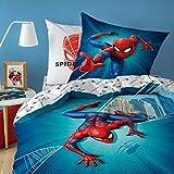 Spiderman City Bettwäsche, 80 x 80 cm + 135 x 200 cm 100% Baumwoll