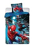 BrandMac Spiderman Marvel Bettwäsche 200 x 135cm, 80 x 80cm 100% Baumwoll