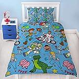 Disney Toy Story 4 Einzelbett-Bettbezug, Rescue-Design, wendbar, zweiseitig, mit Woody & Buzz...