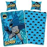 SkyBrands Batman Bettwäsche 135x200 80x80 cm Kissenbezug [Wendemotiv] Kinderbettwäsche Jungen...