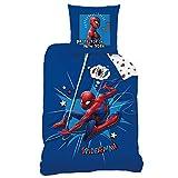 CTI Spiderman Bettwäsche Bettbezug 135x200 Baumwolle · Marvel Kinderbettwäsche für Jungen · 2...