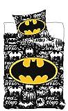 BrandMac ApS Batman Wende-Bettwäsche-Set 2-teilig 135x200 80x80 Baumwolle Kinder-Bettwäsche Com