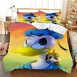AQEWXBB Donald Duck-Bettbezug-Bettwäscheset3D-Digitaldruck 100% Mikrofaserweich Und BequemSehr...