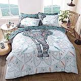 Sleepdown Elefanten-Mandala, wendbar, Bettbezug-Set, pflegeleicht, antiallergisch, weich und glatt,...