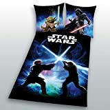 Yoda Bettwäsche Biber Star Wars 8 Schwertkampf Rey Finn Tico Winterbettwäsche wie Flanell 135 x...