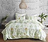 Bettwäsche Set Blumen Botanisch Pflanze Muster Drucken Polyester-Baumwolle 1 Bettbezug 135x200 mit...