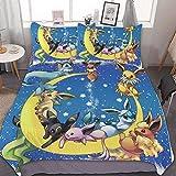 POMJK Anime Bettwäsche Bettbezug Set,3 Stück Bettwäsche Set,mit Reißverschluss und 2...